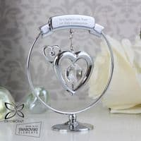 P0104H90 - Personalised Crystocraft Heart Ornament - Ideal gift for Christmas, Birthdays, Valentines, For Her, Anniversaries, Memorial.